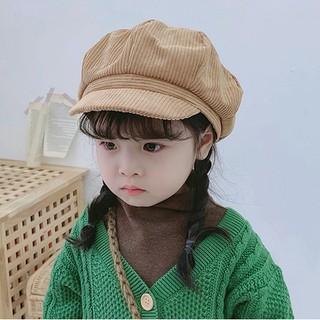 Mũ beret, Mũ nồi cho bé vải nhung mền mại thời trang cho bé trai, bé gái có dây điều chỉnh kích cỡ thumbnail