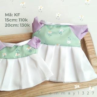 [OUTFITDOLL] Đầm cho doll 20cm và 15cm
