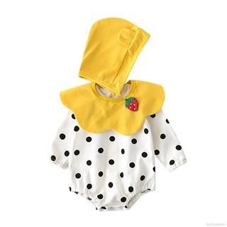 Sale 70% Áo liền quần + nón chấm bi xinh xắn cho bé, yellow,90 Giá gốc 220,000 đ – 24A13-3