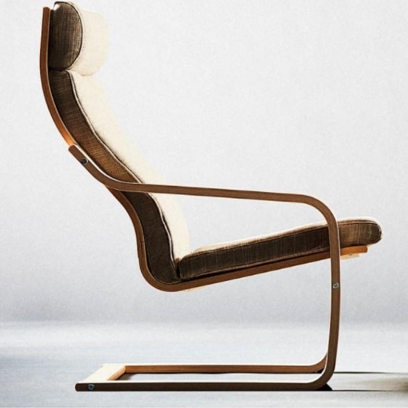 Ghế Thư Giãn Poang Arm Chair Khung Gỗ Đen