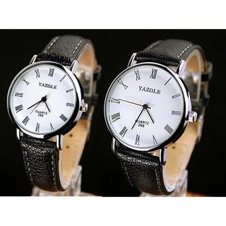 Đồng hồ đôi dây da tổng hợp Yazole PKHRYA007 thumbnail