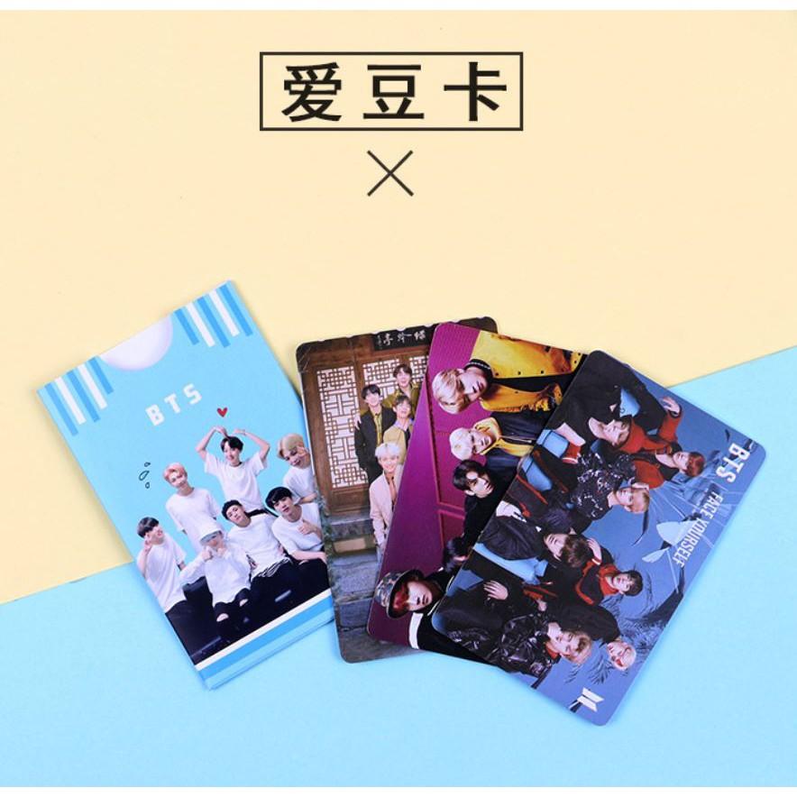 Set 3 plastic card kèm vỏ đựng BTS, V, Jungkook, Jimin, EXO Chanyeol, TFBOYS Vương Tuấn Khải