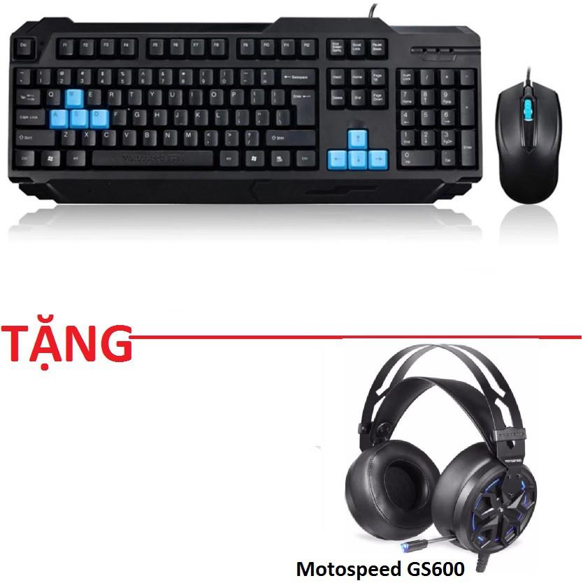 Combo chuột và bàn phím game thủ Motospeed S51 - tặng motospeed GS600