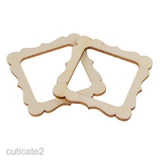 20x Mini Wood Photo Frame Shapes Craft Wedding Decor Embellishment 50mm