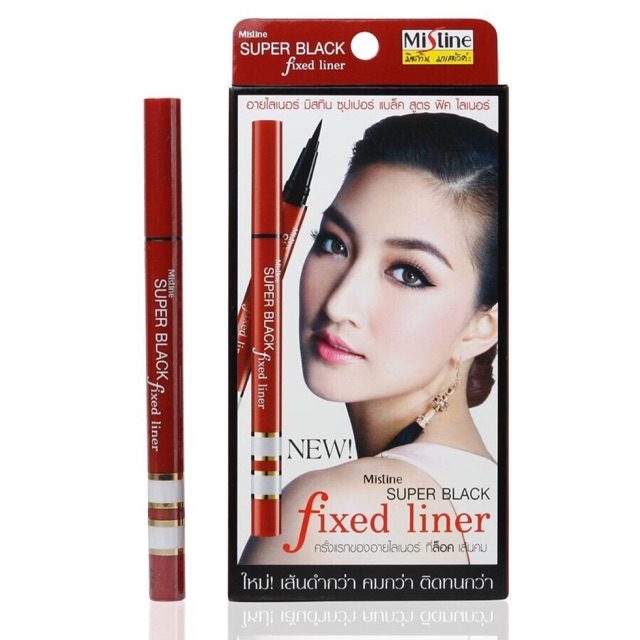Follow shop 06/03 Kẻ mắt Mistine Super Black Fixed Liner
