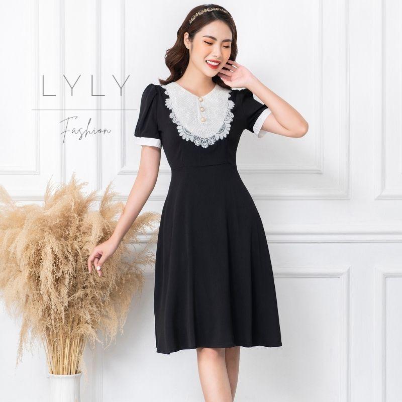 Mặc gì đẹp: Sang trọng với Đầm công sở thiết kế,chất liệu co giãn,đầm dáng xoè che bụng, Lyly shop