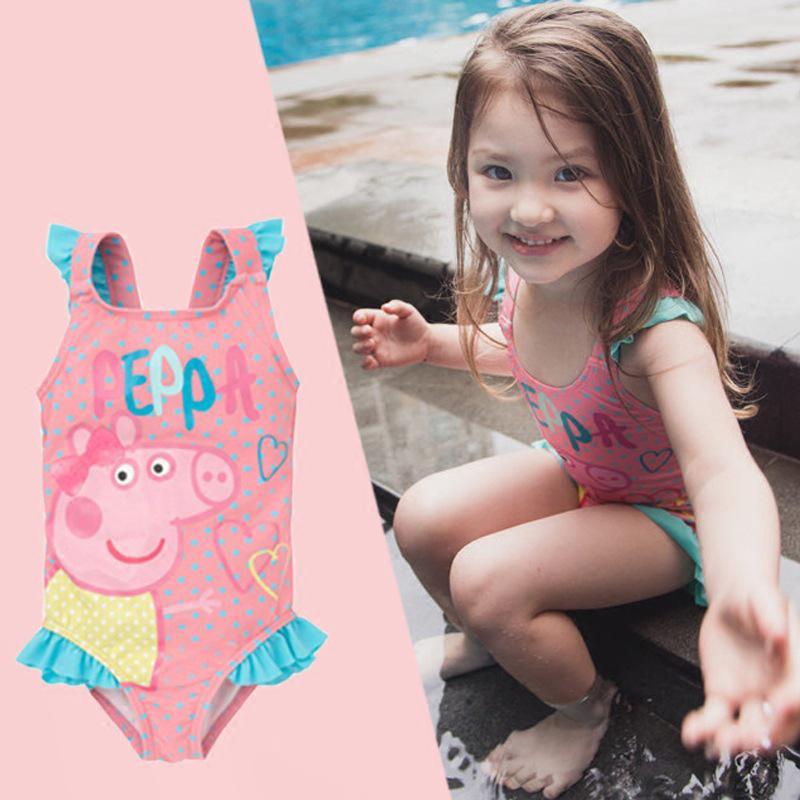 Bộ đồ bơi bikini bé gái hình hạc 2 màu loại 1 vải thun NYLON cao cấp cho bé từ 1-12 tuổi.