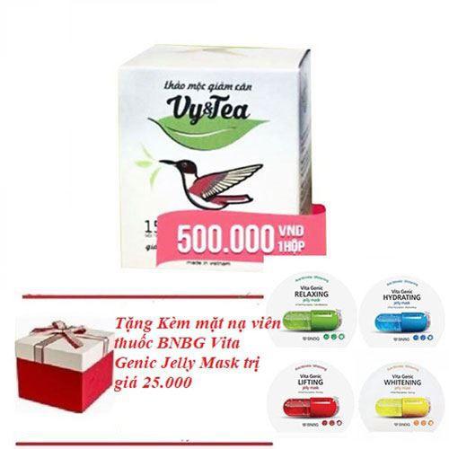 Trà thảo mộc giảm cân Vy & Tea 30g - Tặng kèm mặt nạ viên thuốc BNBG Vita