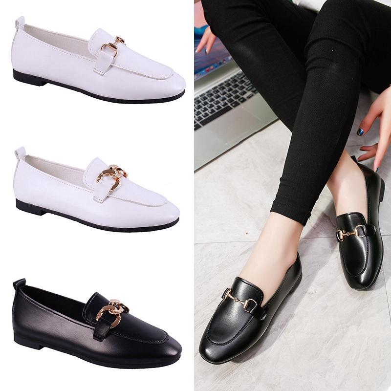 Giày Loafer Slip-on nữ phong cách Hàn Quốc