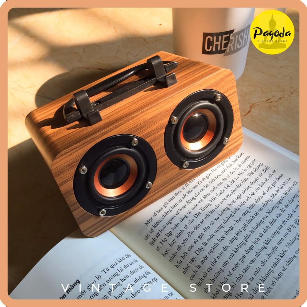 (1 ĐỔI 1) Loa bluetooth mini gỗ Vintage decor (Follow shop để nhận mã giảm giá)