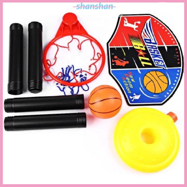 Kids Adjustable Standing Rack Basketball Inflator Toys