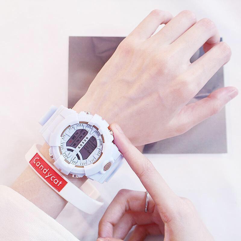 Đồng hồ điện tử nam nữ AOSUN Q121 mẫu mới tuyệt đẹp