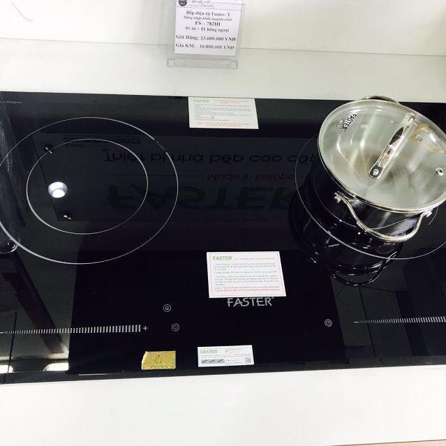 Bếp điện từ Faster FS 782HI nhập khẩu Malaysia, bếp điện từ đôi, bếp từ hồng ngoại, bếp hỗn hợp điện từ