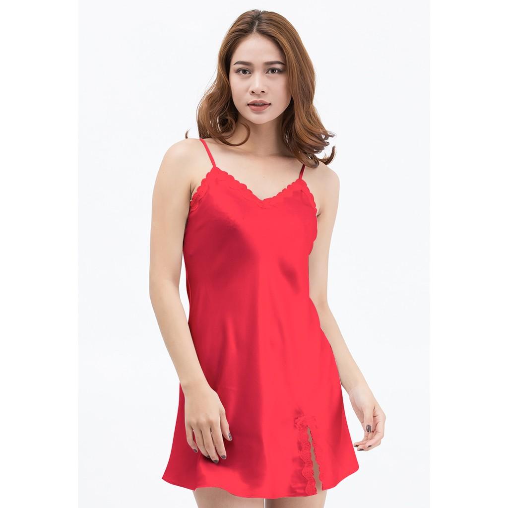 Đầm ngủ VERA cao cấp VBCG7163 Ren (Đỏ)