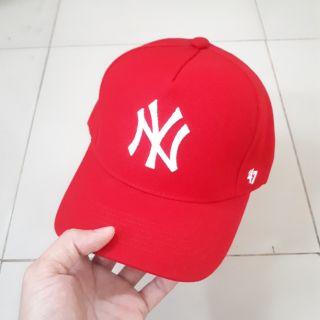 Mũ Baseball cap NY đỏ