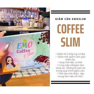 EMO COFFEE SLIM ☕️ – Nước Uống Giảm Cân Emoslim Vị Coffee [ Tặng Bình Detox 100ml hoặc Quà Ngẫu Nhiên ]