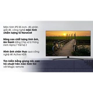 Smart Tivi NanoCell LG 4K 55 inch 55SM9000PTA( HÀNG NEW NGUYÊN SIÊU BẢO HÀNH CHÍNH HÃNG 2 NĂM)