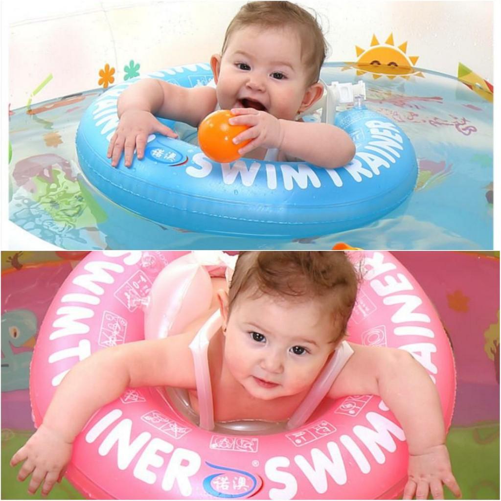 Phao bơi chống lật cho bé NHÃN HIỆU ABC (Hồng,xanh)