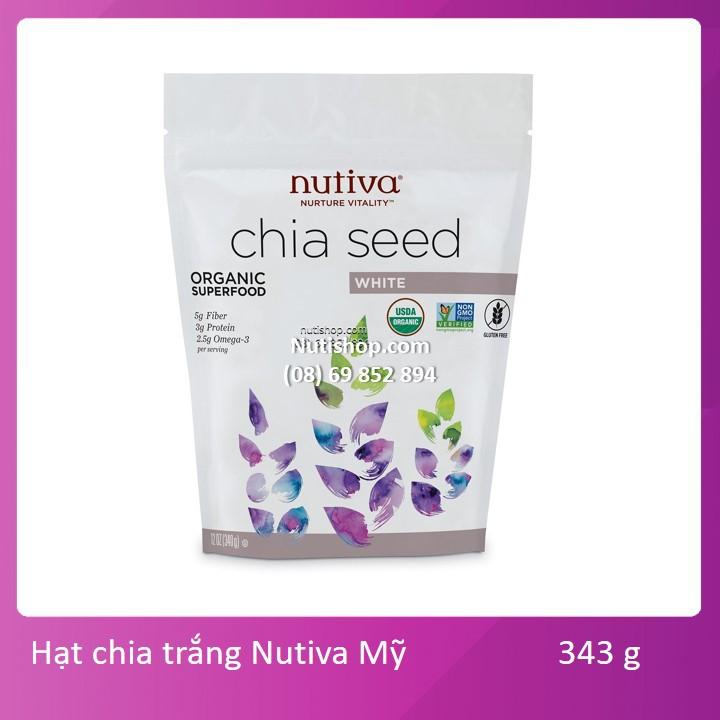 Hạt chia trắng Nutiva Mỹ 343 g Hạt chia trắng Nutiva Mỹ 343 g
