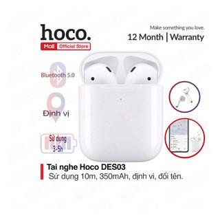 Tai nghe Bluetooth TWS Wireless Hoco DES03, định vị tai nghe, đổi tên ,nghe nhạc liên tục trong 3-5 giờ, Bluetooth 5.0