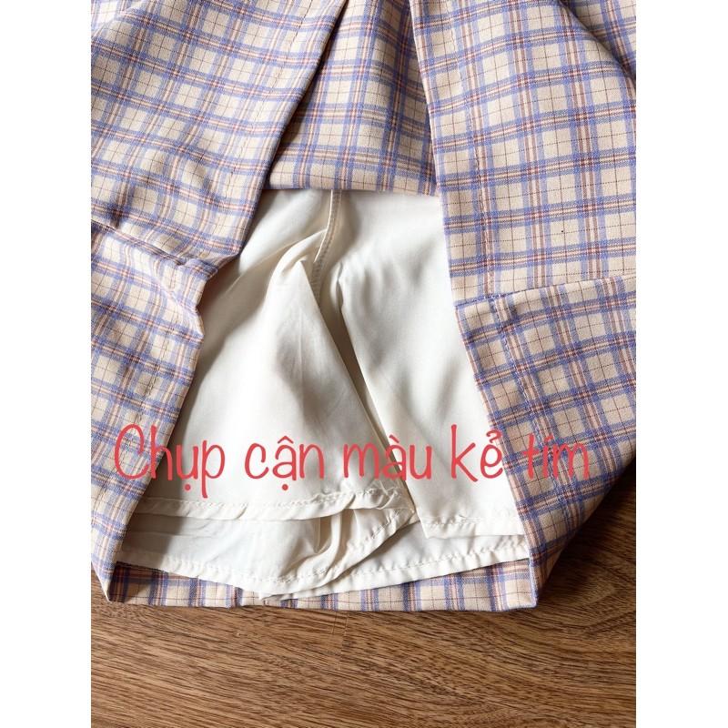 Chân Váy Chữ A Lưng Cao Họa Tiết Kẻ Sọc Caro Thời Trang  Chân Váy Nữ MOMOTO