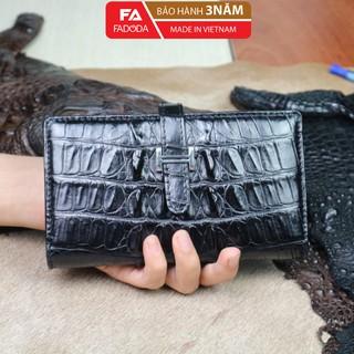 Ví nữ da cá sấu thật Fadoda cao cấp màu đen thiết kế sang trọng - FCW26-01 thumbnail