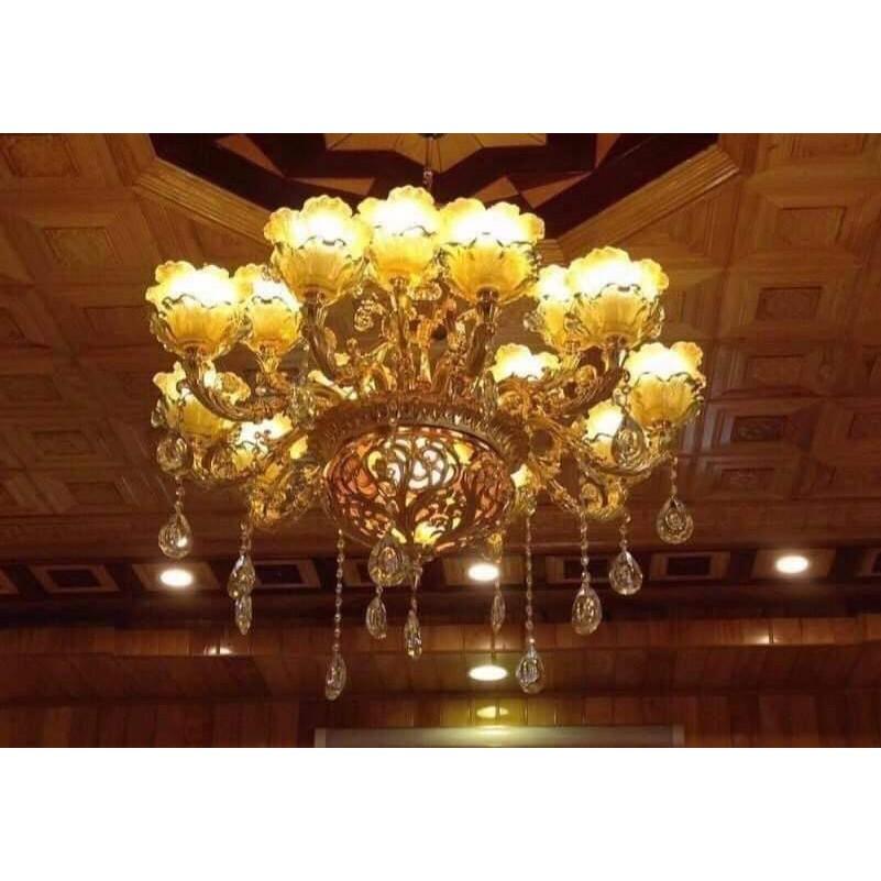Đèn Chùm ROYAL Cao Cấp Chất Liệu Đá Trang Trí Phòng Khách, Nhà Hàng, Khách Sạn