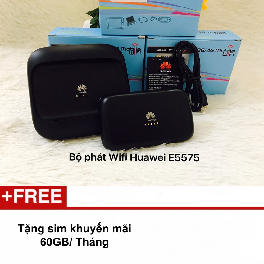 Bộ phát wifi bằng sim 3G/4G Huawei E5575 tốc độ cao Tặng sim KM 60GB/Tháng - 10076131 , 1009499078 , 322_1009499078 , 1500000 , Bo-phat-wifi-bang-sim-3G-4G-Huawei-E5575-toc-do-cao-Tang-sim-KM-60GB-Thang-322_1009499078 , shopee.vn , Bộ phát wifi bằng sim 3G/4G Huawei E5575 tốc độ cao Tặng sim KM 60GB/Tháng