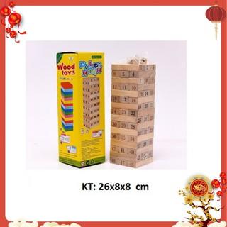 [XẢ KHO] Bộ đồ chơi rút gỗ 48 thanh (có xúc xắc)