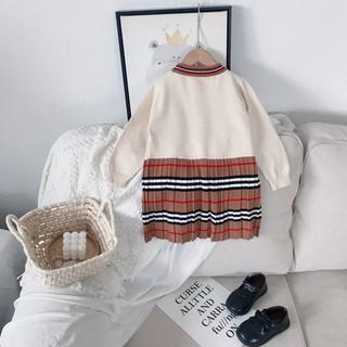 Đầm Cho Bé Gái Thắt Nơ Thời Trang Xuân Thu 2021