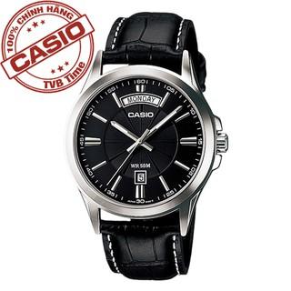 Đồng hồ nam dây da Casio Standard chính hãng Anh Khuê MTP-1381L-1AVDF (39mm)