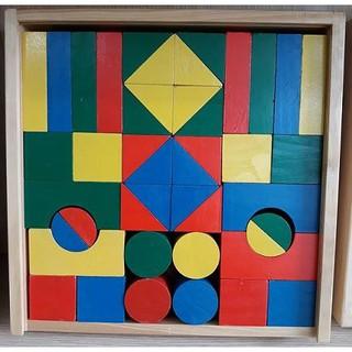 Bộ xếp hình 44 chi tiết bằng gỗ cho bé