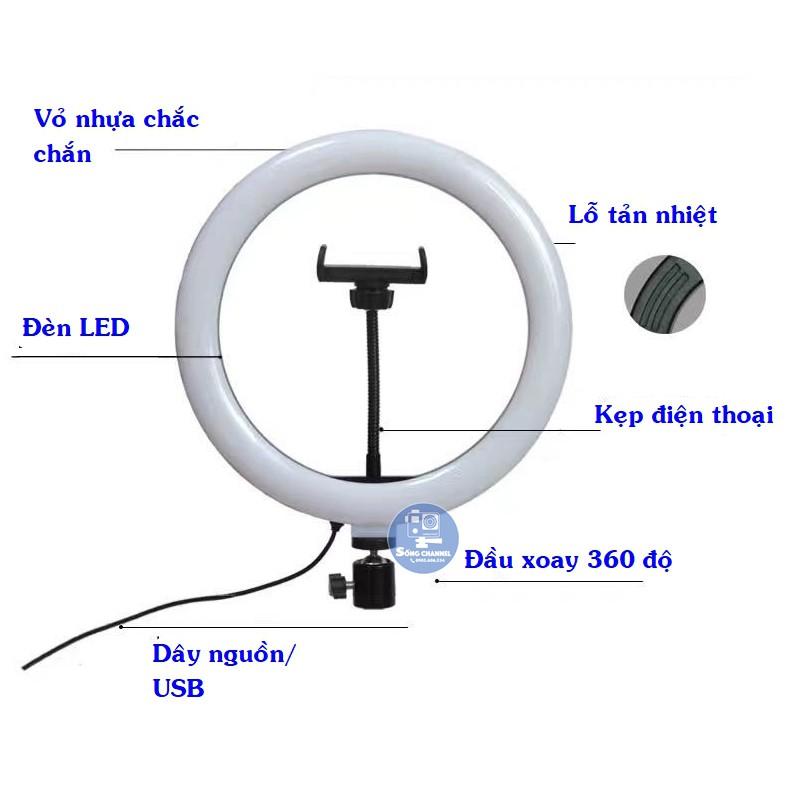 [GIÁ SỈ] Combo kẹp đỡ điện thoại và chân uốn cho đèn livestream 26cm