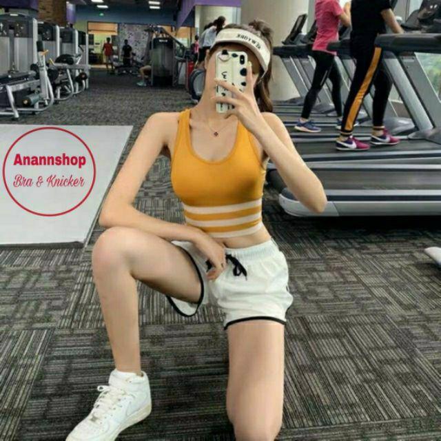 Bra tập gym 3 sọc cực chất, có đệm ngực