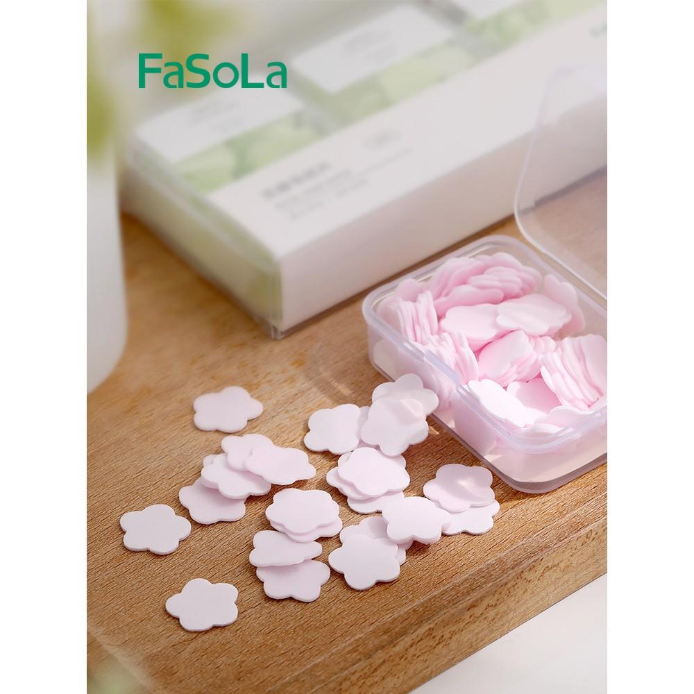 Xà phòng giấy miếng hình cánh hoa du lịch bỏ túi FaSoLa