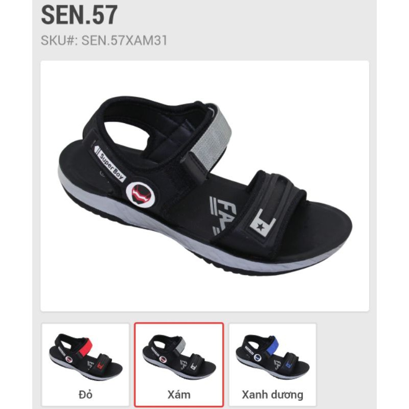 Sandal Bitas SEN.57 đỏ, xanh, xám