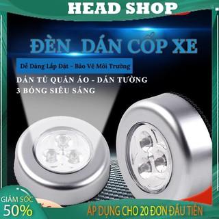 Đèn Led Dán Tường Cốp Xe Ô Tô Trần Xe Tủ quần áo mini dùng pin L646 siêu sáng HEADSHOP thumbnail