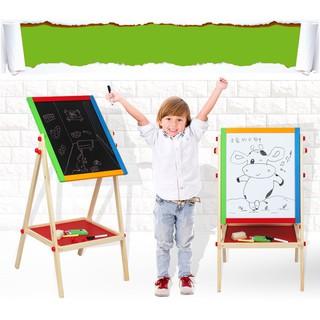 Đồ chơi trẻ em đồ chơi thông minh Bảng gỗ 2 mặt