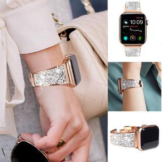 Dây Đeo Kim Loại Đính Đá Lấp Lánh Cho Đồng Hồ Thông Minh Apple Watch Iwatch 1 2 3 4 5