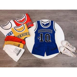 Bộ quần áo thun bé trai, bé gái sát nách in số 10, thun cotton – Quần áo trẻ em – SockiMall (200538).