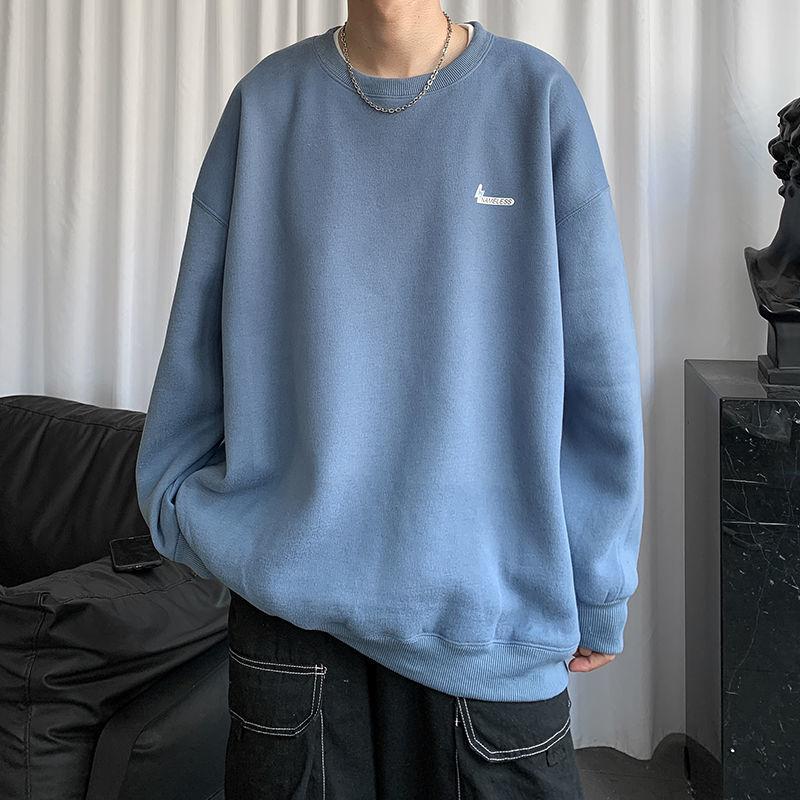 Áo Sweater Tay Dài Dáng Rộng Phong Cách Thời Trang Hong Kong