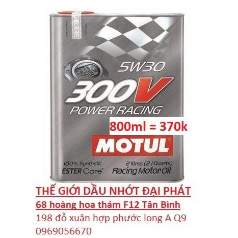motul 300v nhập khẩu 100% từ pháp tem 3 lớp 5w30