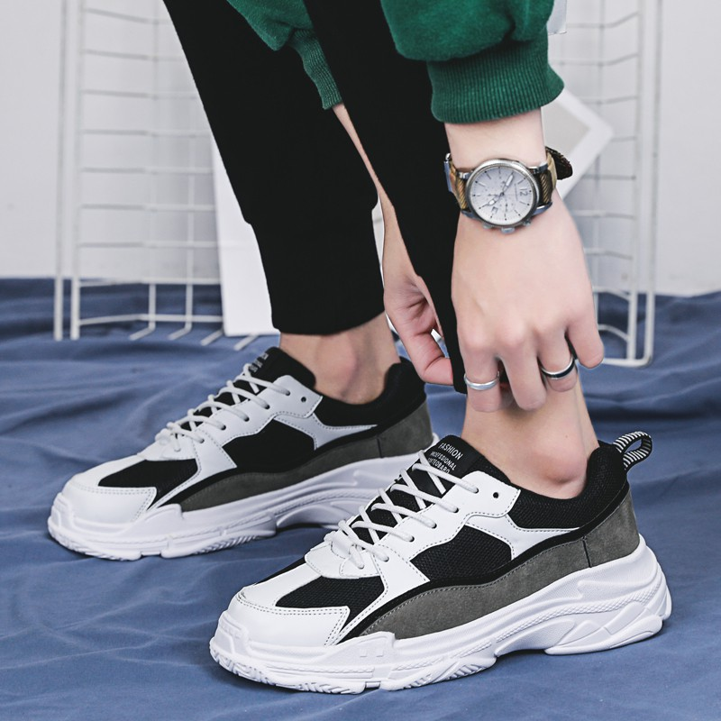 Giày nam Hàn Quốc¤Ins super fire male han edition in the fall and winter fashion shoes sneakers sport leisure runni
