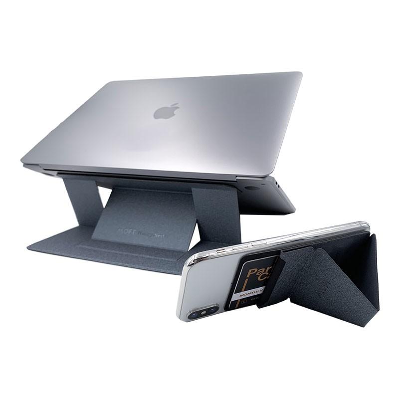 Combo Giá Đỡ Moft Laptop + Moft X Phone - Bộ Đôi Hoàn Hảo Nhất Cho Laptop Và SmartPhone