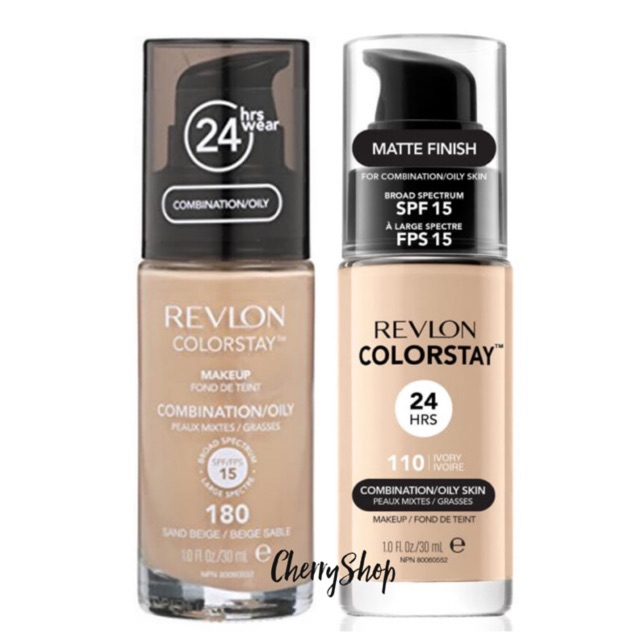 [Hàng USA] Kem Nền Revlon Colorstay Makeup 24hrs (30ml) Mẫu cũ và Mẫu mới