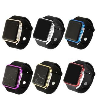 Đồng hồ điện tử mặt vuông có đèn LED thiết kế với dây silicone