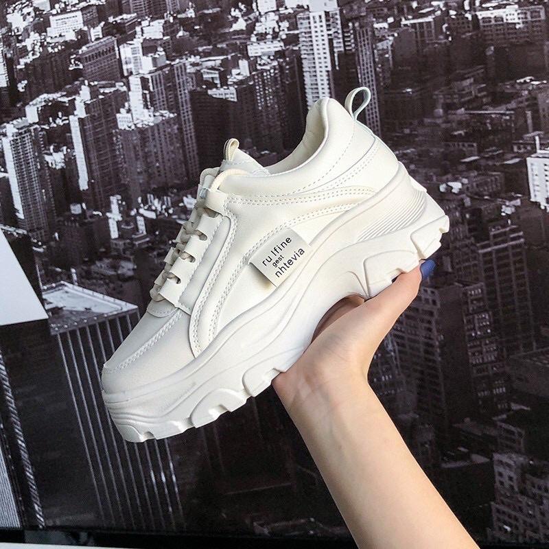 Giày thể thao nữ đế độn cao S166 , giày sneaker nữ độn đế bản mới