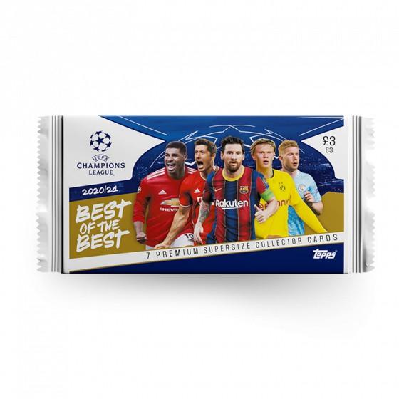 Pack 7 thẻ cầu thủ bóng đá Topps Best of the Best 2020/21
