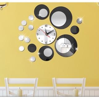 Đồng hồ trang trí kèm gương dán tường DH121 - Đồng hồ treo tường mẫu hot nhất 2019
