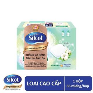 Bông trang điểm (bông tẩy trang) cao cấp Silcot Premium 66 miếng hộp thumbnail